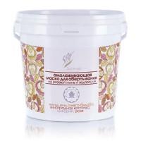 Омолаживающая маска на розовой глине и водорослях «Холодное лимфодренажное обертывание»