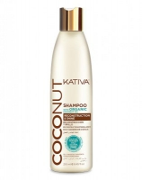Восстанавливающий шампунь с органическим кокосовым маслом для поврежденных волос