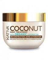 Восстанавливающая маска с органическим кокосовым маслом для поврежденных волос