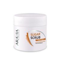 Скраб сахарный для тела с маслом миндаля