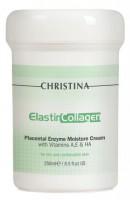 Увлажняющий крем с плацентой, энзимами, коллагеном и эластином для жирной и комбинированной кожи (Elastin Collagen Placental Enzyme Moisture Cream with Vit. A, E & HA)