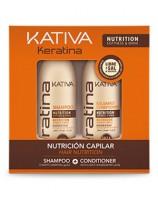 Набор укрепляющий шампунь + кондиционер с кератином для всех типов волос